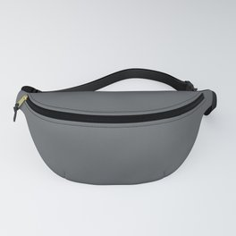 Dark Lead Gray Solid Color Pairs W/ Behr Paint's 2020 Forecast Trending Color Graphic Charcoal Fanny Pack