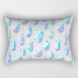 Iridescent Rainbow Crystals Rectangular Pillow