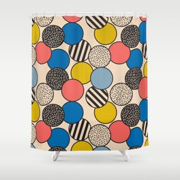 Memphis Inspired Pattern 5 Shower Curtain