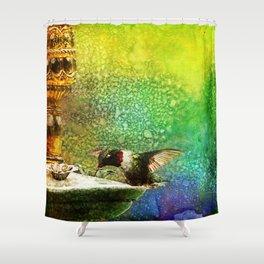 Jewel Hummingbird ~ Ginkelmier Inspired Shower Curtain