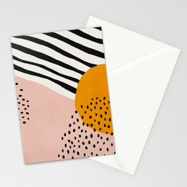 Abstract, Mid century modern art Stationery Cards