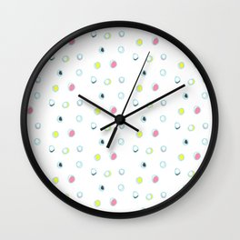 Rosewall buds (on white) Wall Clock