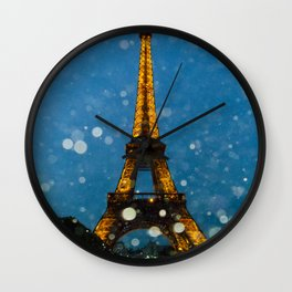 Eiffel Tower by Lika Ramai Wall Clock