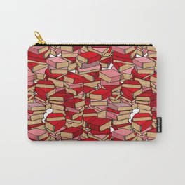 Book Collection in Red Carry-All Pouch
