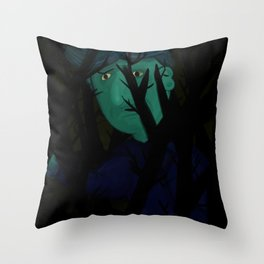 Navigating the dark Throw Pillow