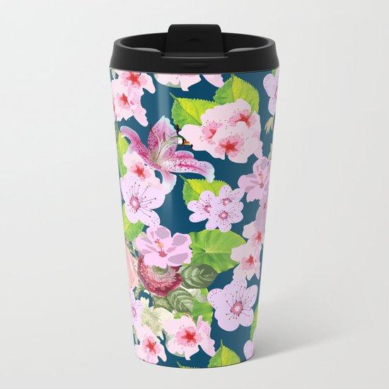 Pink Spring I Metal Travel Mug