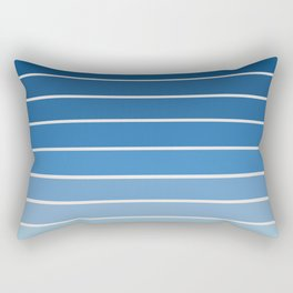 Gradient Arch - Blue Tones Rectangular Pillow