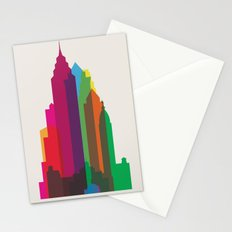 Shapes of Philadelphia accurate to scale Stationery Cards