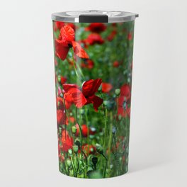Field of poppies Travel Mug
