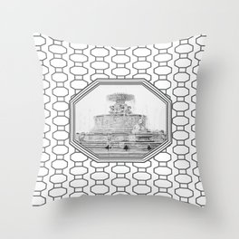 Scott Fountain_Belle Isle_Detroit, Michigan Throw Pillow