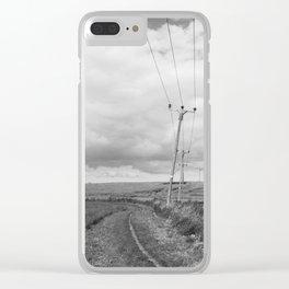 FARMLAND - BLACK & WHITE Clear iPhone Case