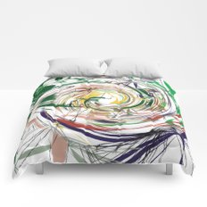 eye of hurricane Comforters