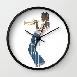 Typography Art of Miles Wall Clock