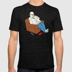 Couch Potato Mens Fitted Tee Tri-Black SMALL