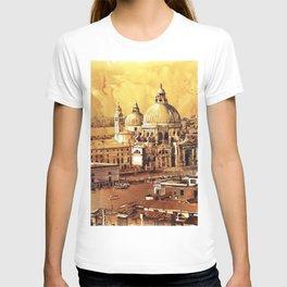 Basilica di Santa Maria in Venice, Italy.  Watercolor painting of Venice T-shirt