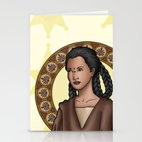 jedi Stationery Cards featuring Bepa jedi by Miguel Angel Carroza