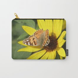 Painted Lady Butterfly Picks Pollen Carry-All Pouch