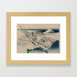 Ushibori in Hitachi Province , Katsushika Hokusai, 1830 -1831 Framed Art Print