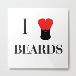 I heart Beards Metal Print