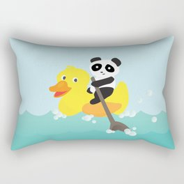 Row, row, row your duck Rectangular Pillow