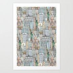New York watercolor Art Print