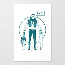 SkullFace ( Tuff guy No.1) Canvas Print