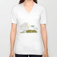 kris tate V-neck T-shirts featuring Tate Modern by KlaraBowPiechocki