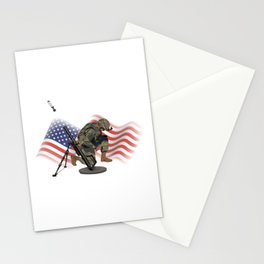 US Gunner with M224 Mortar Stationery Cards
