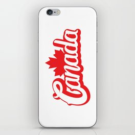 Canada Hand Lettering Type iPhone Skin