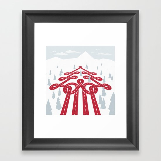 North Pole Position (Winter Raceway) Framed Art Print