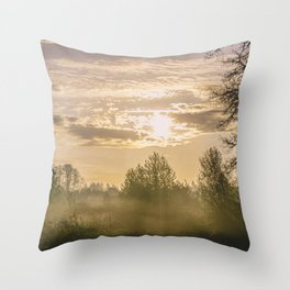 Sunrise in Woodburn Throw Pillow