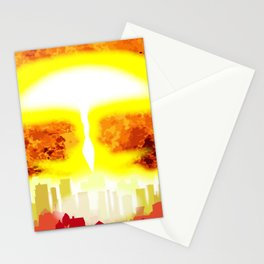 Atomic Bomb Heat Background Stationery Cards
