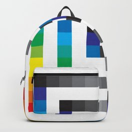Rainbow Squares Pattern Backpack