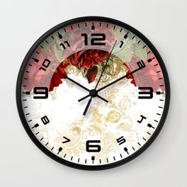 Modern glam chic flowers #12 Wall Clock