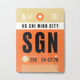 Luggage Tag A - SGN Ho Chi Minh City Vietnam Metal Print