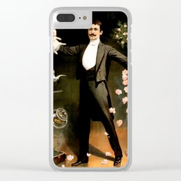 Vintage Rabbit Doves and Magician Clear iPhone Case