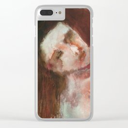 Woman in red Clear iPhone Case