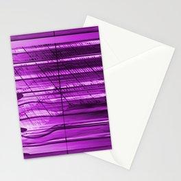 Lightning box behind jalousie Stationery Cards