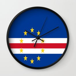Flag of Cape Verde Wall Clock