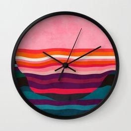 pink liquid sun modern shape Wall Clock