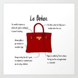 Anatomy of a Birkin Bag Art Print