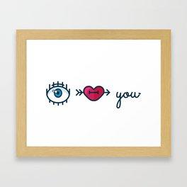 Eye Heart You Framed Art Print