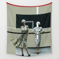 dots Wall Tapestries featuring dots by marzesu collages