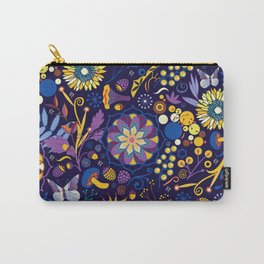 Ripe autumn – purple and yellow Carry-All Pouch