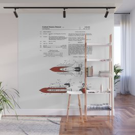 Space Shuttle Patent Wall Mural