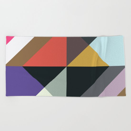 Abstract Pattern Once Again Beach Towel