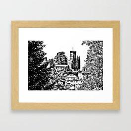Duomo of Barga Framed Art Print