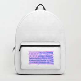 Transgender Pride USA Flag Trans Color LGBT Equality Pun Gift Cool Humor Design Backpack