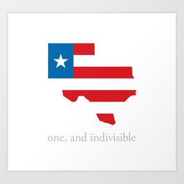 7th Flag of Texas Art Print