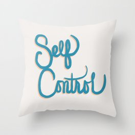 Fruit of the Spirit - Self Control, Hand Lettered by Deb Jeffrey Throw Pillow